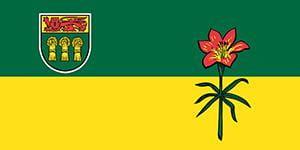 This is an image of a Saskatchewan flag